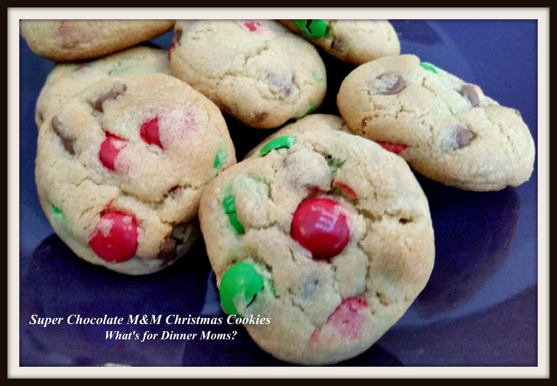 Super Chocolate M M Christmas Cookies