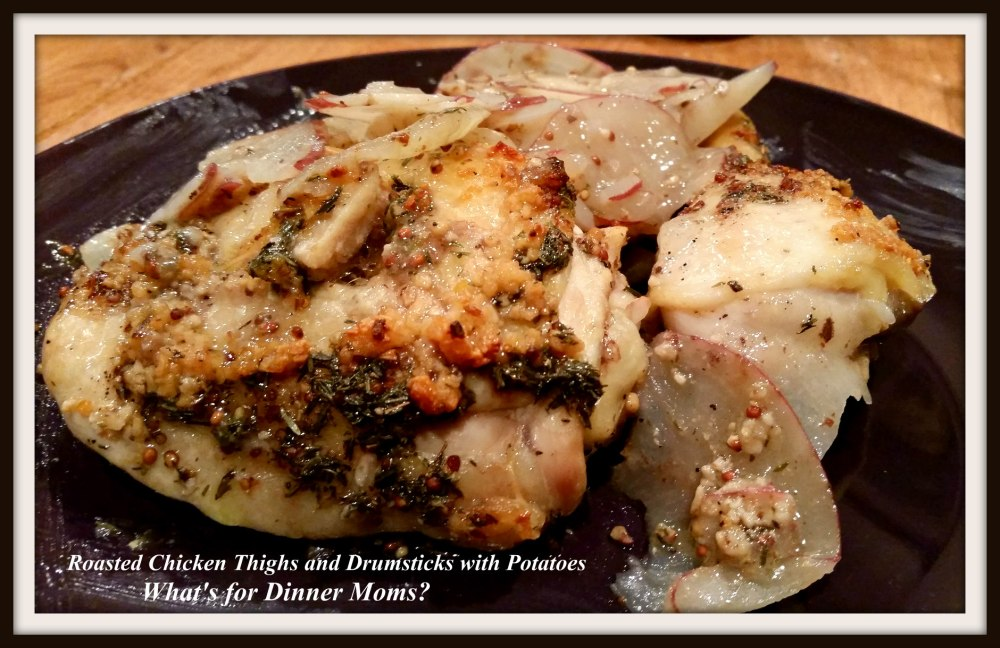 roasted-chicken-thighs-and-drumsticks-plated