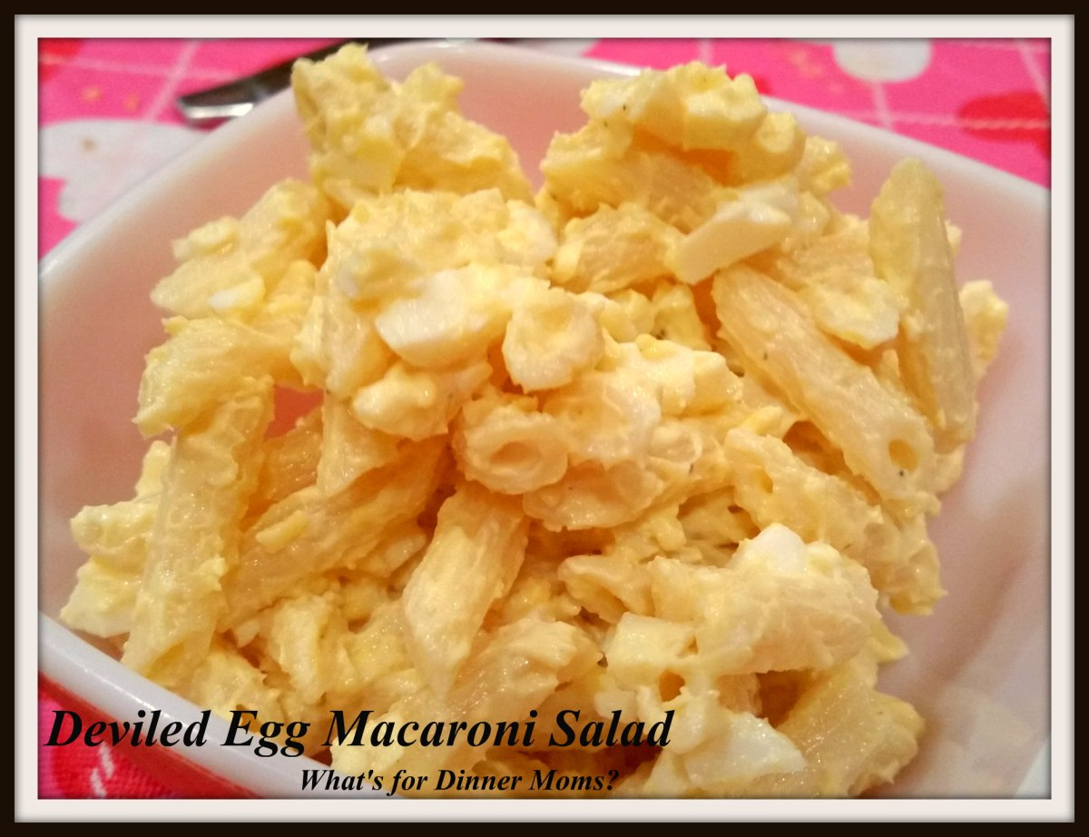 Deviled egg macaroni salad what 39 s for dinner moms for How to make homemade deviled egg potato salad