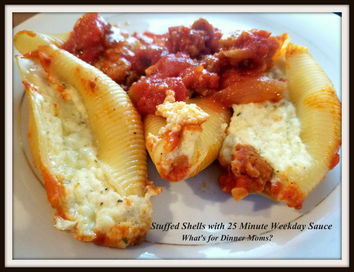 Stuffed Shells with 25 Minute Weekday Sauce